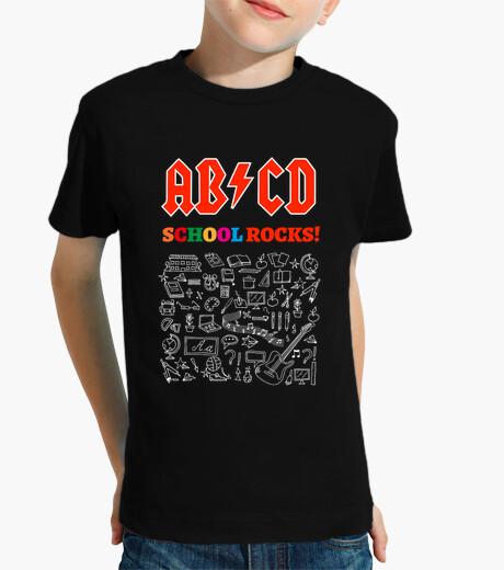 Abbigliamento bambino abcd school rocks! nero