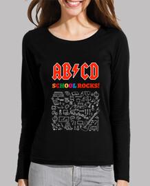 ABCD School Rocks! Noir - manches longues