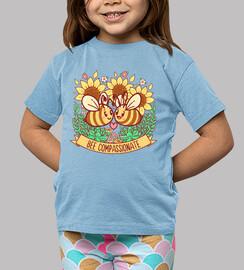 abeille compatissante - chemise d'enfants