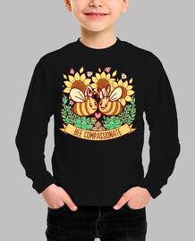 abeja compasiva - camisa de niños