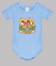 abeja compasiva - ropa de bebé