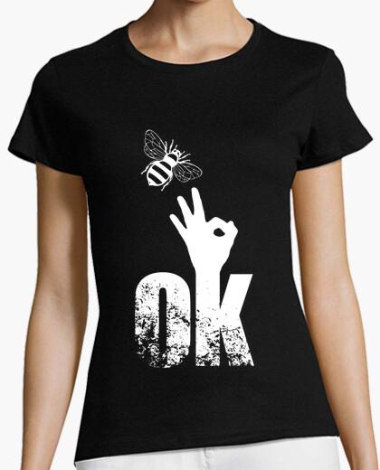 Camiseta abeja ok dedo arriba signo positivo act