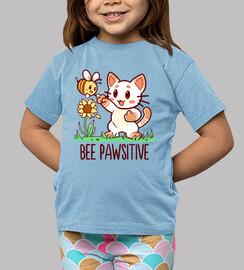 abeja pawsitive - camisa de niños