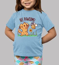 abeja pawsome - camisa de niños