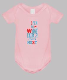 abierto a lo que sea // body para bebé / rosa