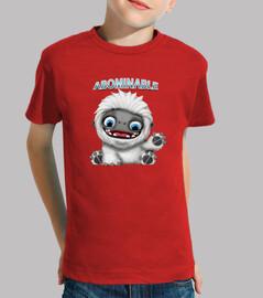 Abominable Niño, manga corta, rojo
