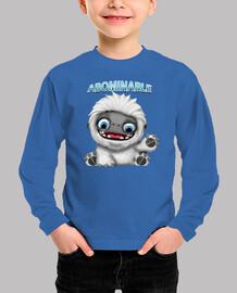 Abominable Niño, manga larga, azul royal