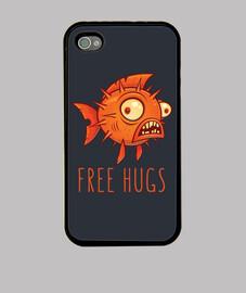 abrazos gratis de dibujos animados pez