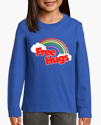 Ropa infantil abrazos gratis retro arcoiris