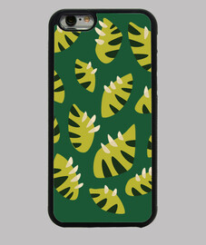 abstract clawed green leaf pattern