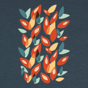 Abstract Geometric Autumn Leaves T-shirts