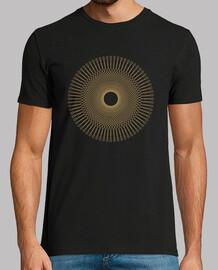 abstract retro vintage linear circle t shirt