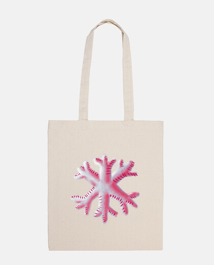 Abstract Snowflake In Blue And Pink
