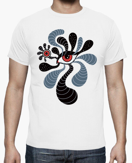 Abstract Surreal Double Red Eye t-shirt
