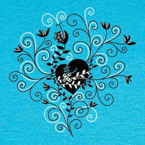 Abstract Whimsical Fixed Broken Heart T-shirts