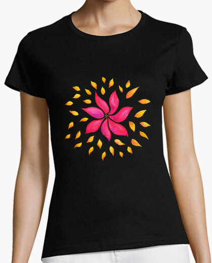Abstract Whimsical Pink Watercolor Flower t-shirt