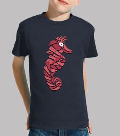 abstracto rojo metálico mar caballo
