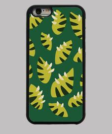 abstrait motif de feuille vert griffé