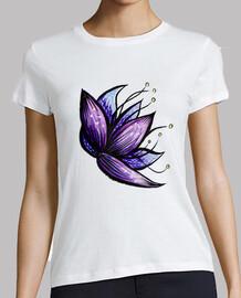 abstraktes Blumengekritzel-Tintenaquare