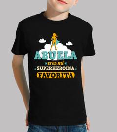 Abuela, Eres Mi Superheroína Favorita (Fondo Oscuro)