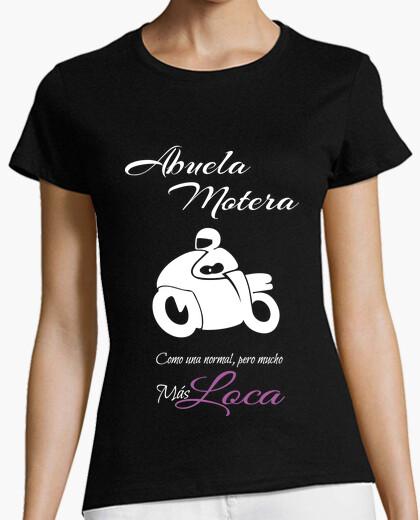 Camiseta Abuela Motera en blanco