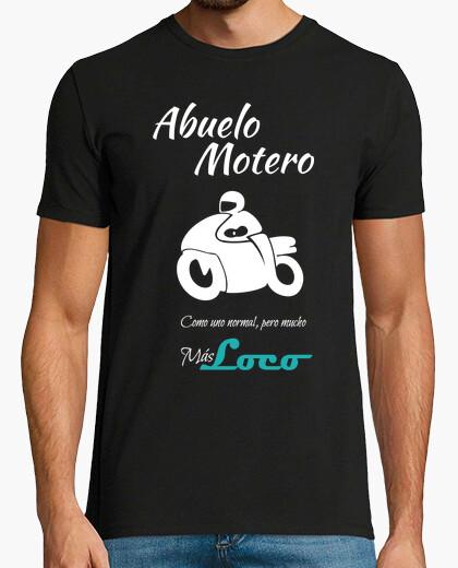 Camiseta Abuelo Motero en blanco