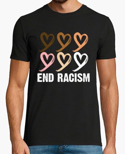 Camiseta acabar con el racismo melanina...