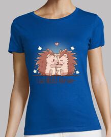 acabo de coser poco amor - erizo - camisa de mujer