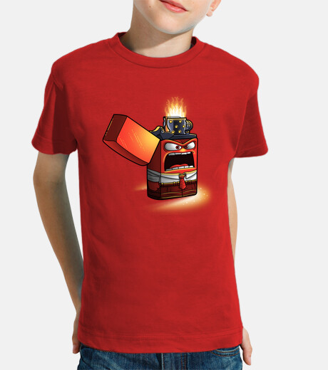 accendino arrabbiato - t-shirt bambino