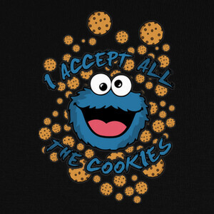 Camisetas ACCEPT ALL THE COOKIES