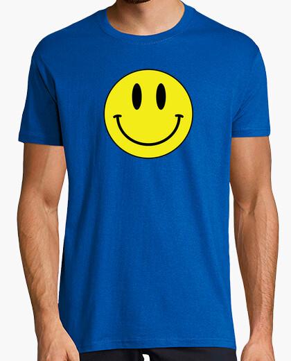 Camiseta Acid_House-Smile BLUE