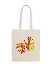 acquerello dipinto ballando foglie d'autunno