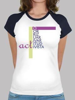 ACT - Mujer, estilo béisbol, blanca y azul royal