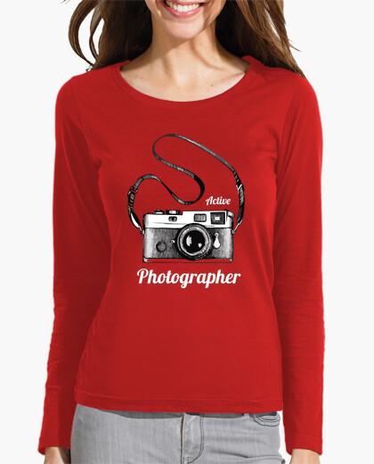 Camiseta Active Photographer-blanco