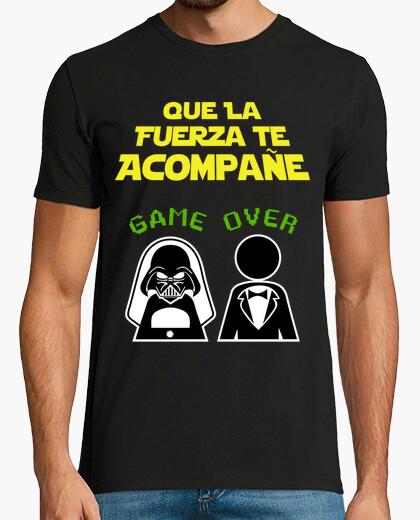 T-shirt addio al celibato sfondo scuro lato oscuro