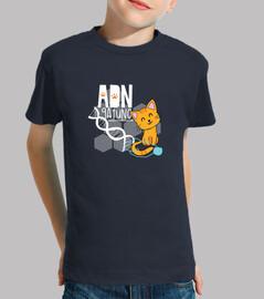 ADN gato Camiseta niño