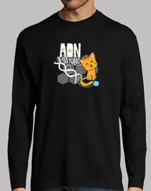 adn gatto t-shirt m / lunga uomo