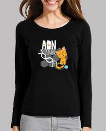 adn gatto t-shirt m / maniche lunghe
