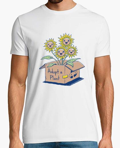 Camiseta adoptar una camisa de planta para hombre
