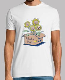 adoptar una camisa de planta para hombre
