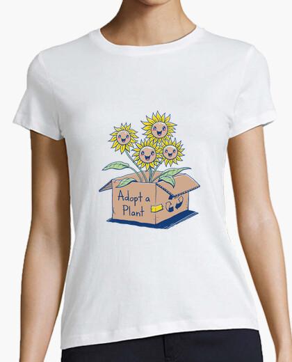 Camiseta adoptar una camisa de planta para mujer