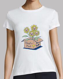 adoptar una camisa de planta para mujer