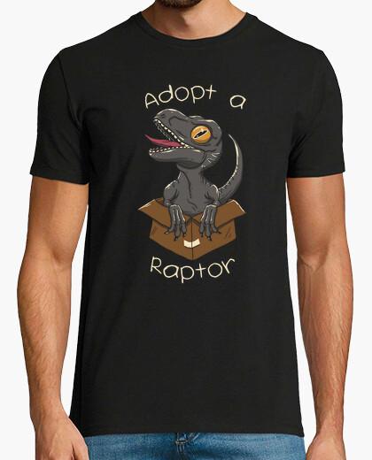 Camiseta adoptar una camisa de raptor para hombre