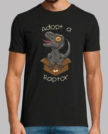adoptar una camisa de raptor para hombre
