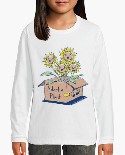 Ropa infantil adoptar una planta