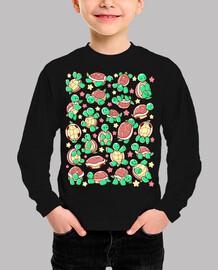adorable tortuga niños patrón de la camisa