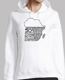 África sin Agua - Sudadera chica