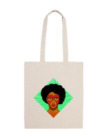 Afro Heroe - Bolsa tela 100% algodón
