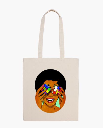 Afro rubik - cube - sac en tissu 100% coton