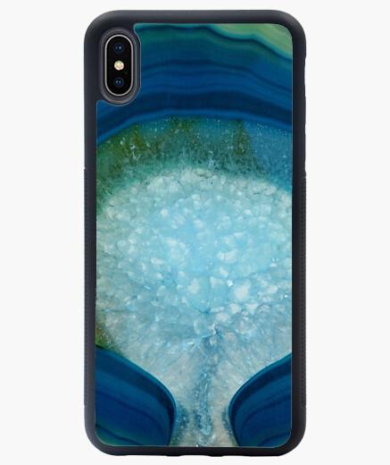 Funda iPhone XS Max ágata verde azul
